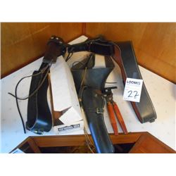 3 Leather Holsters