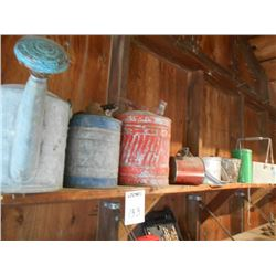 Antique Sprinkler Cans and Gas Cans