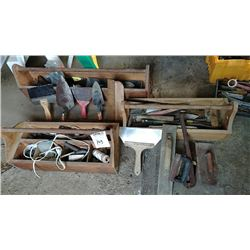 3 Carpenters Boxes w/ Tools