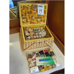 Sewing Basket w/ Complete Kit