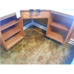 BUNDLE LOT: Custom Made Nice Corner Desk / Solid, now with Office Chair