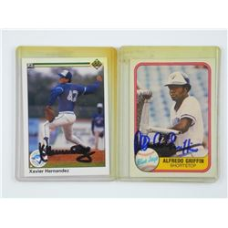 2x Estate Blue Jays - Cards 'Alfredo Griffin' - 'X