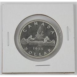 1955 CAD Silver Dollar - Note Condition