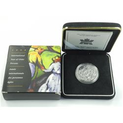 1999 $1  Year of Older Persons - Sterling Silver