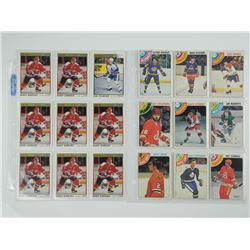 Lot (18) Hockey Cards - Estate.