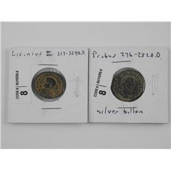 2x Ancient Coins - Probus 276-282AD and Licinius 3
