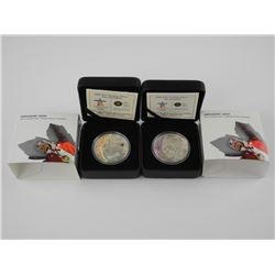 Lot (2) 925 Silver - $25.00 Olympic Coins 'Ski and