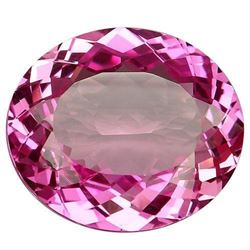 70.75ct. Pink Topaz Oval