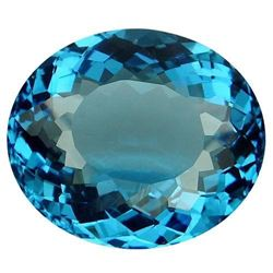 28.8ct. Blue Topaz Oval