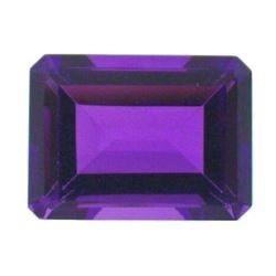 18.02CT AAA Natural Purple Amethyst Gem Diamond Emerald Cut 16x12MM VVS Gemstone