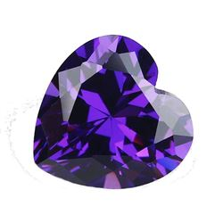 9x9MM 4.37CT AAA Natural Purple Amethyst Heart Faceted Cut VVS Loose Gemstone