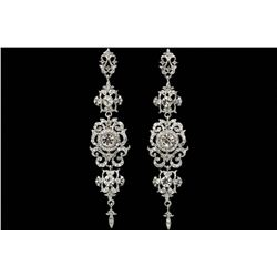 Edwardian Czech Crystal Chandelier Drop Earrings