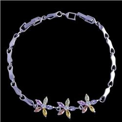 Multi-colored Spring Flower Bracelet