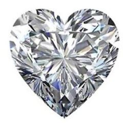 10.79cts Heart Shaped BIANCO Diamond