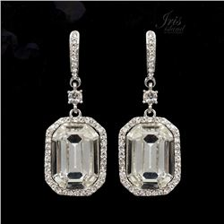 Art Deco-style Czech Crystal Drop Dangle Earrings