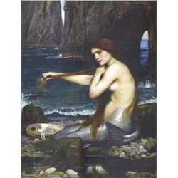 6 X 8 Art Colorful Mermaid Waterhouse Ceramic Mural Backsplash Bath Tile