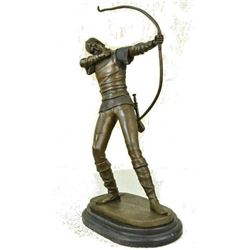 Archer Standing Bronze by Russian Tourgueneff Statue nr Sculpture