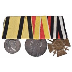Imperial German 3 Placement Medal Bar