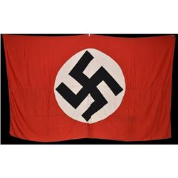 Original WWII Large Nazi German Flag Banner