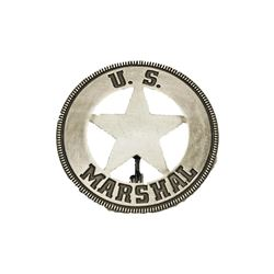 US Marshal Old West Replica Lawman Badge Deputy Sheriff Police