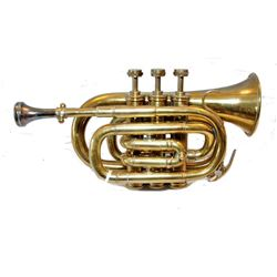 WWII era Military Brass Pocket Trumpet