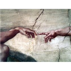 Art Michelangelo Creation Of Adam Ceramic Mural Decor Tile
