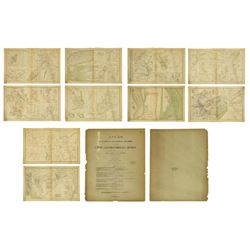 (10) Official 1892 Civl War Maps By Us Govt
