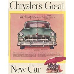 Three Chrysler Car Ads from the 1920's-1950's