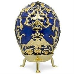 Faberge Inspired 1912 Tsarevich Russian Faberge-inspired Trinket Box Egg