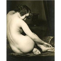 1920s French Rear Nude Photo