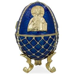 """4"""" Jesus The Savior Icon Faberge Inspired Russian Easter Egg"""