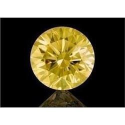 11ct Round Brilliant Cut Canary BIANCO Diamond