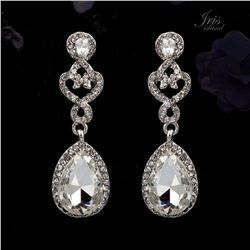 Czech Crystal & Rhinestone Drop Dangle Earrings