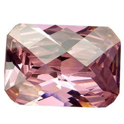 32.45ct. Intense Sweet Pink Kunzite Emerald With Checkerboard Table