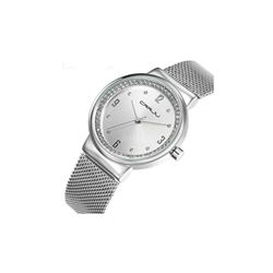Quartz Simplicity Watch Diamond Stainless Steel Woman Water-Proof+Box