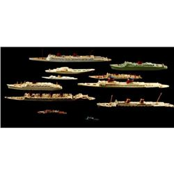 Collection of Vintage Triang Model Ships