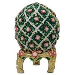 1907 Rose Trellis Russian Faberge-Inspired Egg