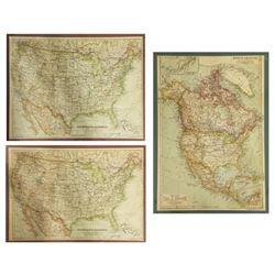 (2) United States & North America, 1910 Maps