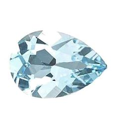 5.96ct Natural Sky Blue Topaz Pear Faceted Gemstone