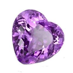3.26ct Natural Brazilian Amethyst Heart Faceted Gemstone