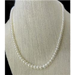 "Graduated Freshwater Pearls 14kt Gold 18"" Necklace"