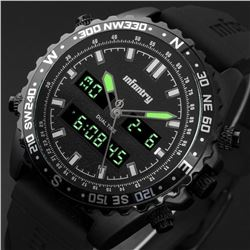Mens LED Digital Quartz Wrist Watch Military Sport Tactical Army Rubber