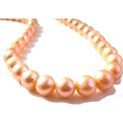 """Genuine 14k Gold Clasp 9-10mm Pink Aaa South Sea Pearl Necklace 18"""""""