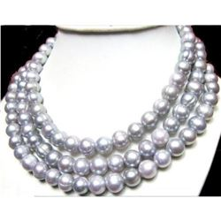 50 Inch Huge Aaa+ 11-13mm South Sea Gray Pearl Necklace 14k Gold Clasp
