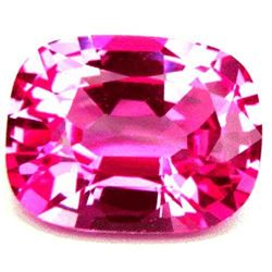 28.65cts Aaa Bianco Diamond Pink Sapphire Corundum Octagon Cushion 20x15mm