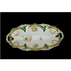 19thc R.S. Prussia Oval Relish Dish Tray