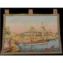 Vintage French Beautiful Tapestry Wall Hanging 58x83cm T235
