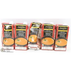 LOT OF 5 CARTONS OF TOMATO BASIL SOUP