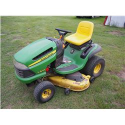 "John Deere LA145 Riding Lawn Mower, 320 Hrs, 48"" Cut"