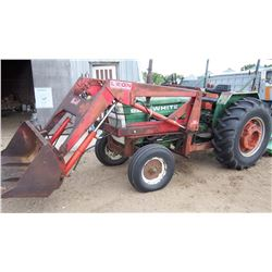 "White 1370 Tractor W/ Leon Loader 626, 60HP, Newer Tires 16.9""x28"", 3PTH 4891 Hrs Showing, Diesel, N"